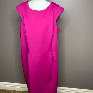 NWT hot pink sheath Calvin Klein dress